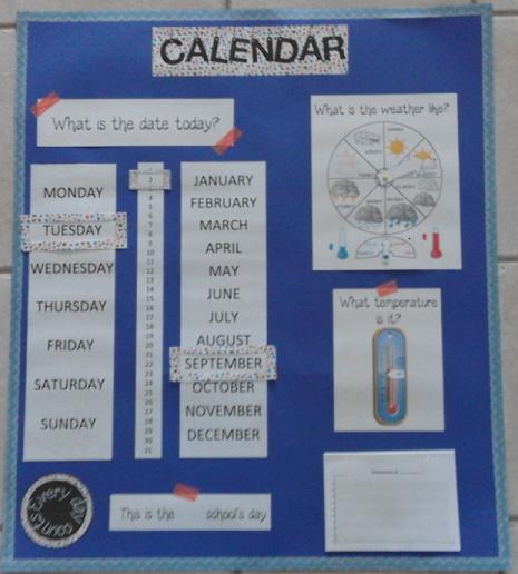 Top calendrier en anglais HR45