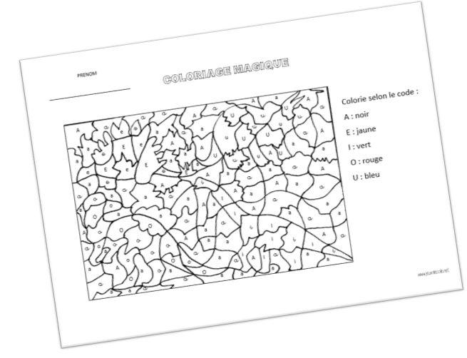 Coloriage Code Dinosaure.Publications De La Categorie Coloriage Magique
