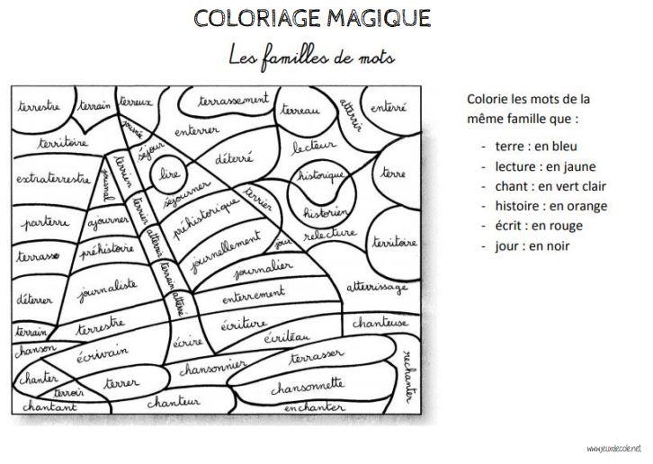 Coloriages Magiques Vocabulaire