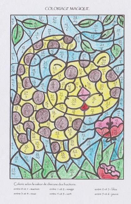 Coloriage Calcul Difficile.Coloriages Magiques