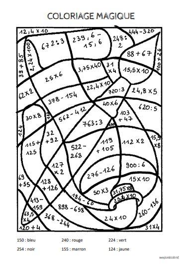 Coloriages Magiques De Calculs