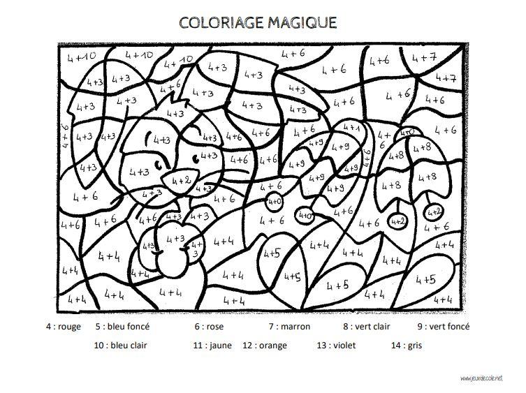 Coloriages Magiques Les Tables