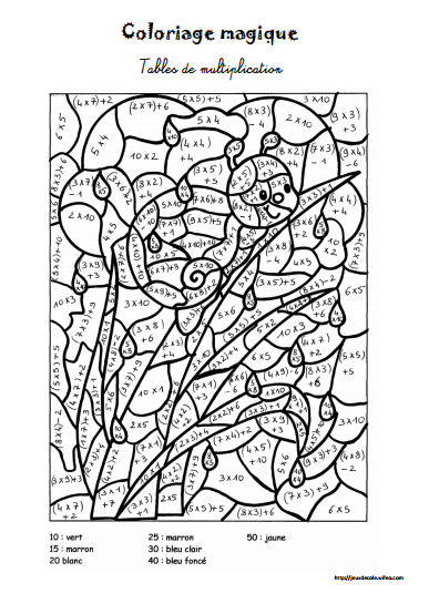 Table de multiplic ation page 2 search results - Coloriage magique table de multiplication ...