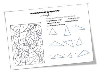 Coloriage Magique Batman.Coloriage Magique Sur Les Triangles