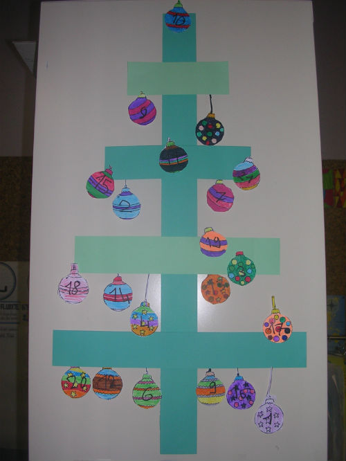 calendrier avent sapin