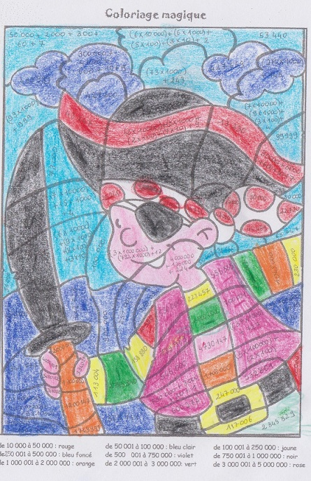 Coloriage Magique Extraterrestre.Coloriages Magiques